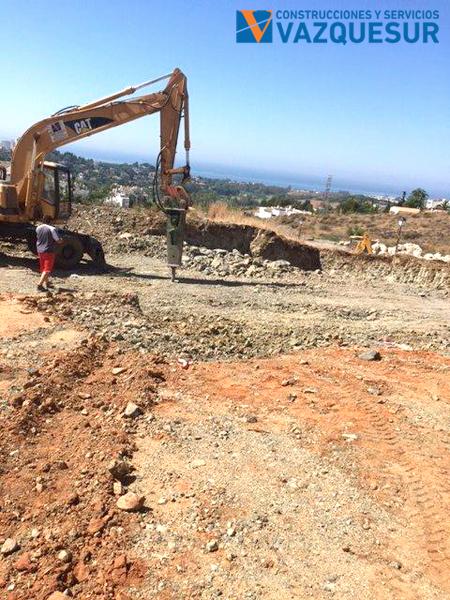 Excavacion en roca con martillo